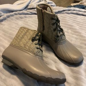 Sperry ankle boots and rain boots